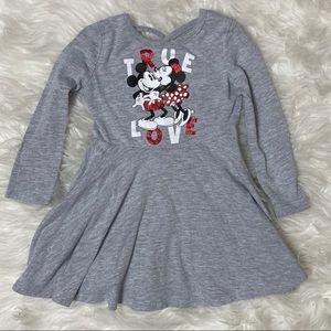 Disney Minnie Mickey Mouse True Love Dress 2T